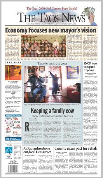 Taos News Front Page